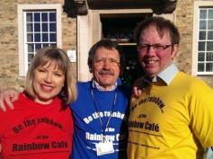 JDJ and Ian Manning (right), fellow councillor, and Belinda Brooks-Gordon (left), former councillor, on a day when we were celebrating diversity