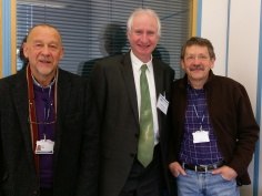 JDJ with Daniel Zeichner, MP for Cambridge, and Paul Sales, a fellow county councillor.