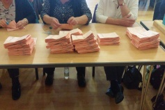 at the count. my pile is the big one second left