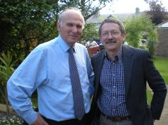 JDJ with Vince Cable Lib Dem economics guru and a victim of the 2015 election melt-down