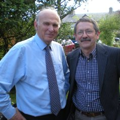 JDJ with Vince Cable Lib Dem economics guru and a victim of the 2015 election melt-down
