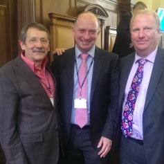 JDJ with Mark Lloyd (centre), CCC Chief exec, and Steve Count, Leader of the Council.