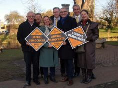 JDJ with fellow Lib Dems and mayoral candidate, Rod Cantrill