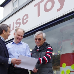 JDJ and Tim (Lighthouse Toys) and George (Histon Fryer)